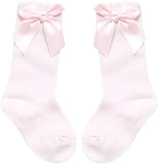 Bébé Filles Doux Bowknot décor Princesse Chaussettes Coton Genou Haut Bas Pratique et utile