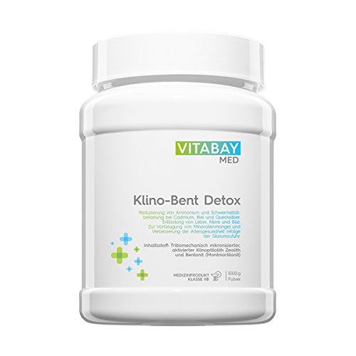 Klino-Bent DETOX Pulver ultrafein 1000 g - Zeolith/Bentonit - Entgiftung & Schwermetallausleitung