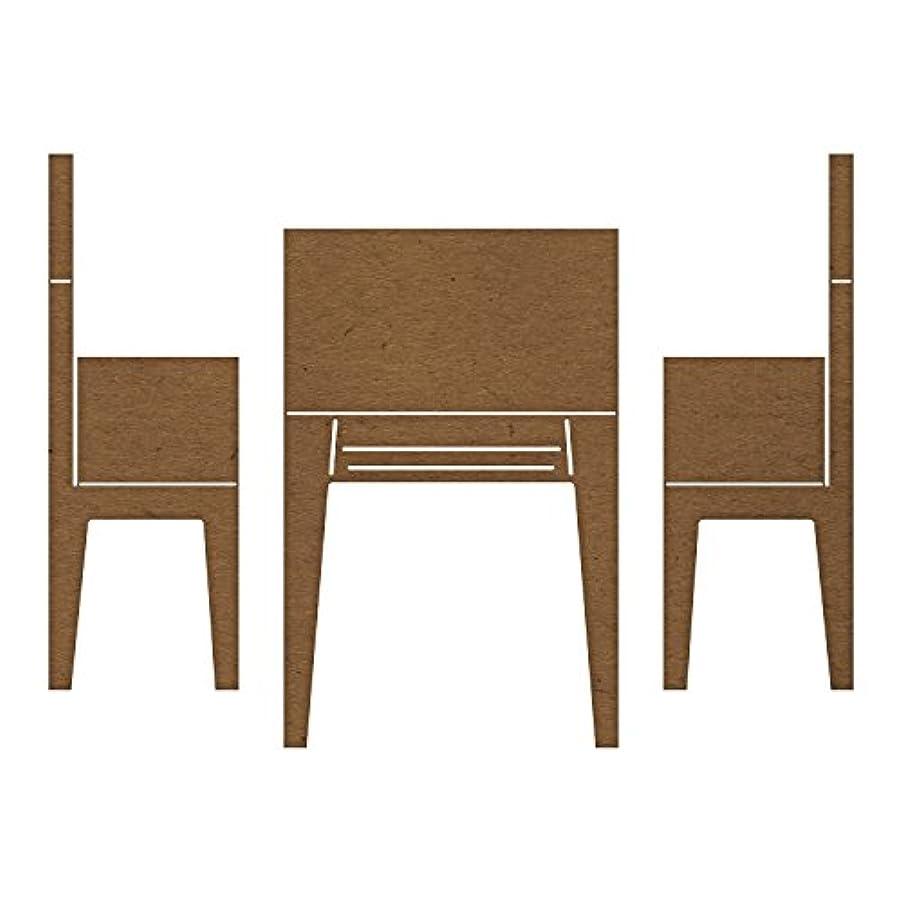 Cheery Lynn Designs B937 Pop Up Table & Chairs Die Cut