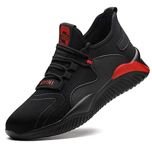 Zapatos de Seguridad para Hombre Zapatillas Zapatos de Mujer Seguridad de Acero Ligeras Calzado de Trabajo para Comodas Unisex Zapatos de Industria y Construcción 797-Negro01 42