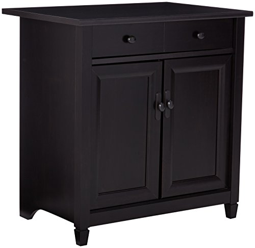 Sauder 408696 Edge Water Utility Cart/Stand, Estate Black Finish