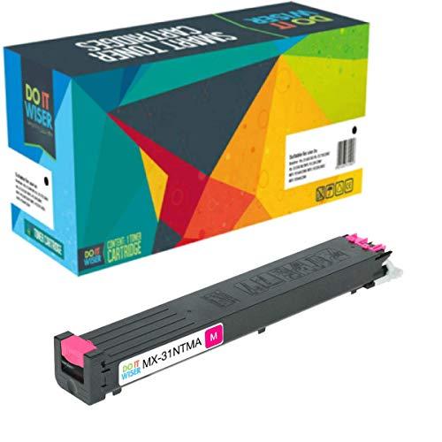 Do it wiser - Cartucho de tóner Compatible para impresoras Sharp MX-31NTMA MX-2600N, MX-3100N,...