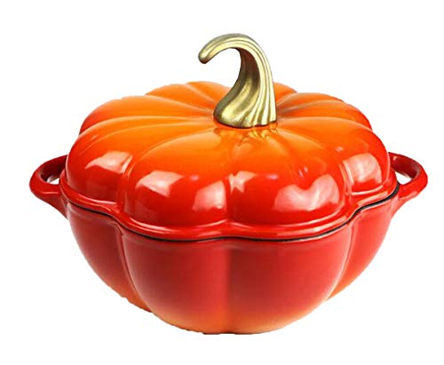Huaishu gietijzeren pot anti-aanbaksoep pot pompoen pot keramische pot inductie Cooker oranje rood 24cm