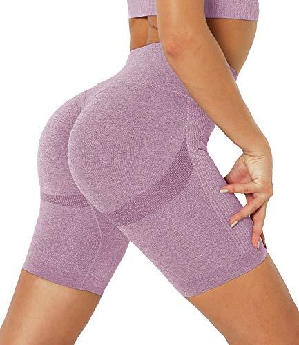 DUROFIT Shorts Donna Sportivi con Vita Alta Pantaloni da Yoga Corti Shorts Allenamento Donna...