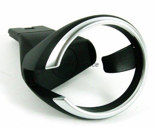 IA-BW08- Getränkehalter für Mittelkonsole schwarz/silber Cup Holder Kompatibel für 1er E81 E82 E87 E88 3er E36 5er E60 E61 6er E63 E64 Z3