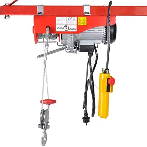 mewmewcat Elektrischer Seilhebezug 500 W 100/200 kg Hebezug Seilzug Elektro-HebezugEinzelkabel
