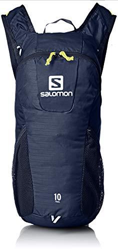 Salomon Mochila de running y senderismo 10L, trail 10, azul (Night Sky) y verde (Sulphur Spring)