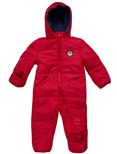 iXtreme Baby Boys' One-Piece Puffer Winter Snowsuit with Hood (Newborn & Infant) (Red, 12/18 Months)'