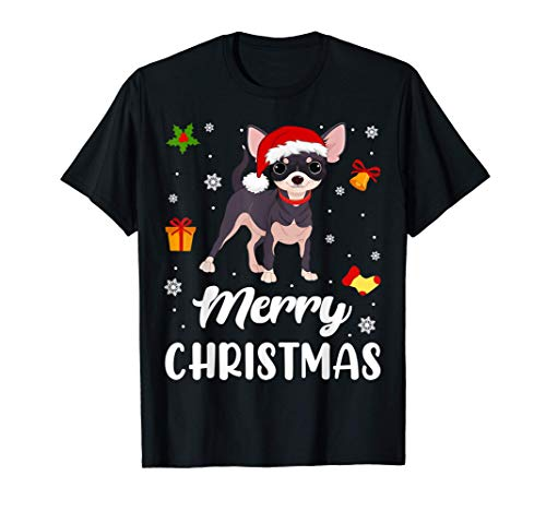 Merry Christmas Funny Xmas Chihuahua Dog Lover Owner Gift T-Shirt