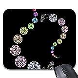 N\A Alfombrilla para ratón Alfombrilla para ratón con Estampado de Diamantes Accesorios informáticos