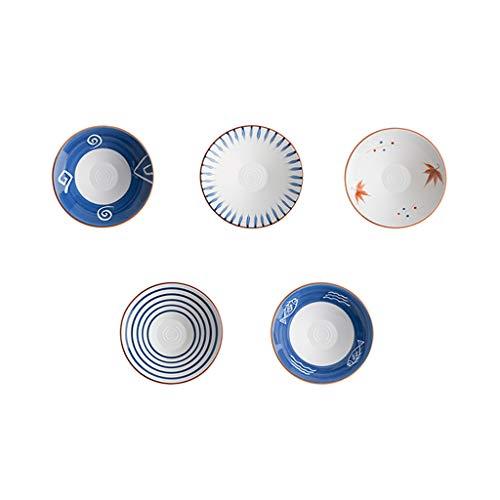 Tazón de Fideos de Sopa de cerámica de Estilo japonés tazón de Fideos de Carne casera Fideos Fideos instantáneos tazón de Ramen tazón de Ensalada de Frutas Retro