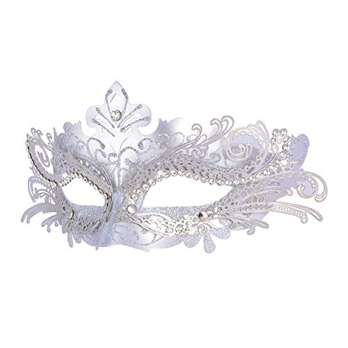 Hoshin Maskerad mask, karneval dekorationer venetianska masker för kvinnor (silver)