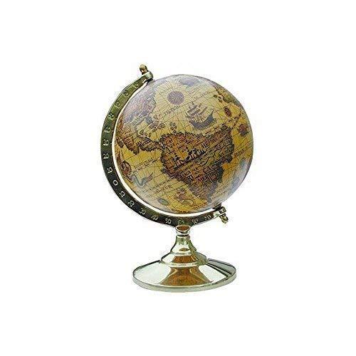 linoows Kleiner Historischer Barock Globus auf anlaufgeschütztem Messinstand