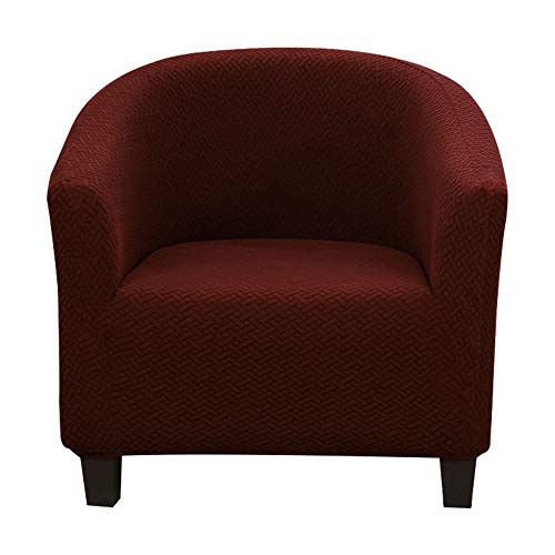 harupink sesselschoner Sesselüberwurf Sesselhusse Sesselhusse Sesselbezug Elastisch Stretch Husse für Cafe Stuhl Sessel Clubsessel Loungesessel Cocktailsessel (Kaffee)