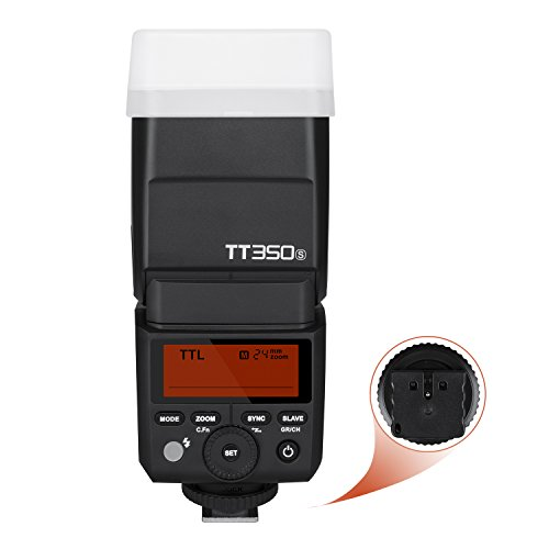Godox TT350S Flash Speedlite para cámara TTL, Mini Thinklite HSS GN36 de 2.4G para cámaras Digitales sin Espejo Sony