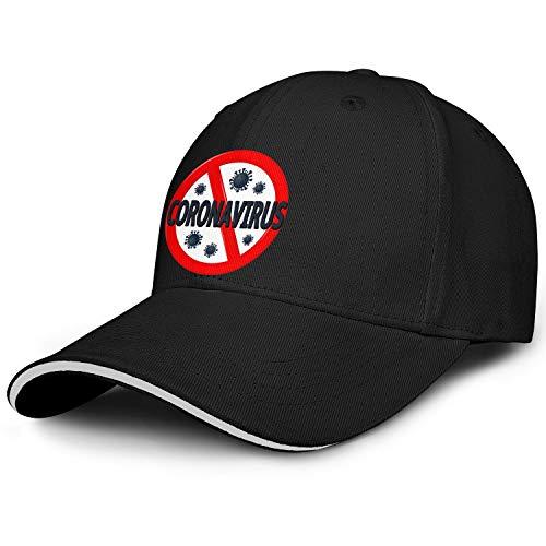 Girls Baseball Caps Co-ro-na-Virus- Basic Adjustable Snapback Hiking Hats