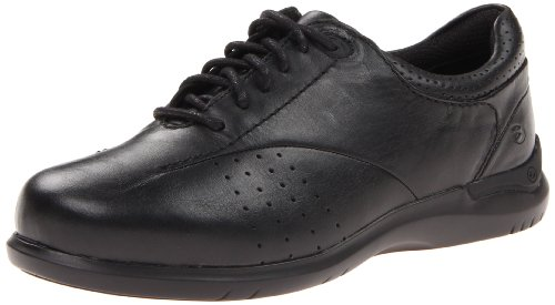 Aravon Women's Farren Oxfords, Black Leather, 5.5 Wide