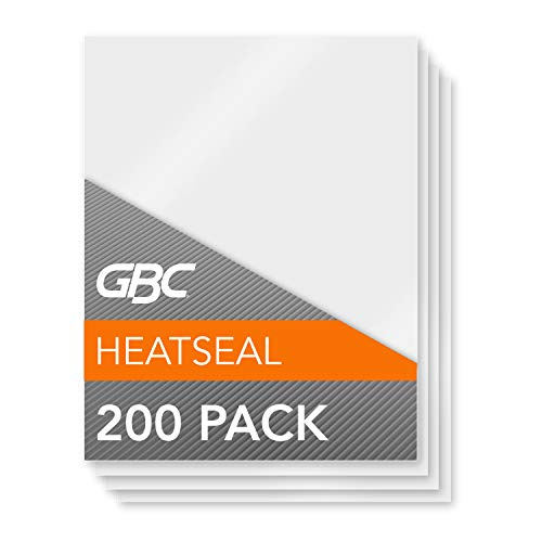 GBC Thermal Laminating Sheets / Pouches, Letter Size, 3 Mil, Heat Seal, 200/Pack (3202062)