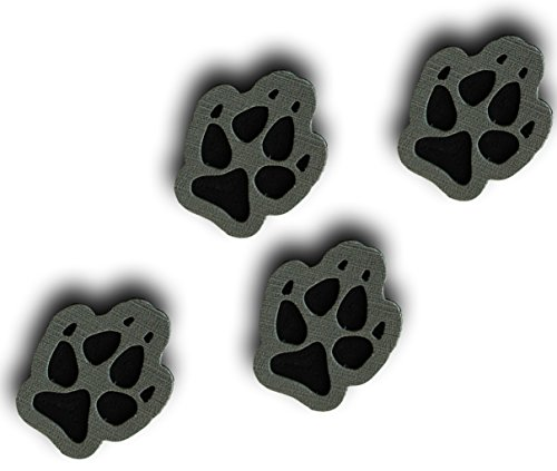 Toejamr Stomp Pads - 4 Puppy Paws - Gray
