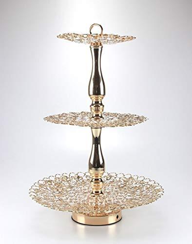 Wir bieten ihnen Hier einen wunderschönen Etagere Stilvoll, Edel und Elegant in Gold mit Kristall Steine 31,5 cm/Höhe 45,5 cm
