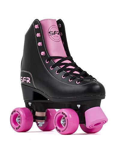 Sfr Skates SFR Figure Skates Skates Unisex Erwachsene, Schwarz/Pink, 39,5