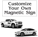 2 Pack Custom Magnetic Sign 12in x 24in Great Auto, Car Truck Business Sign