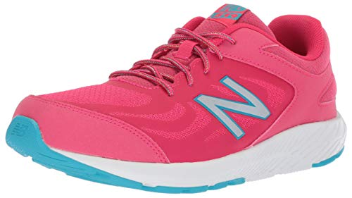 New Balance Girls' 519v1 Running Shoe, Pomegranate/Vortex, 12.5 W US Little Kid