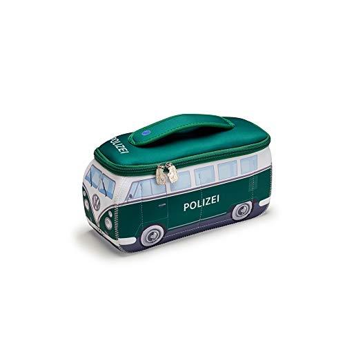 Volkswagen 1H1087317 Kulturtasche Bulli Polizeiwagen Waschtasche Neopren, grün