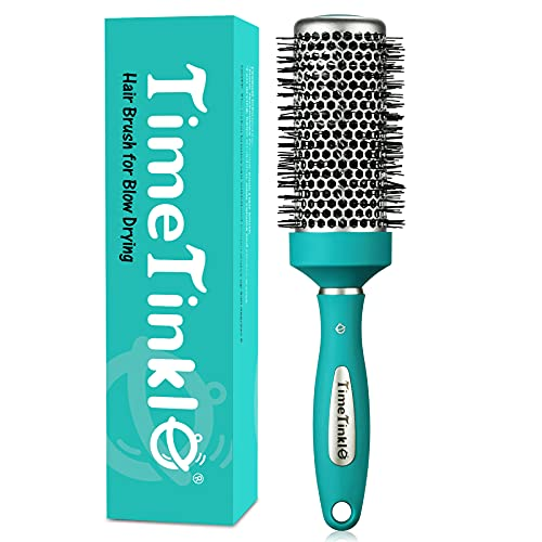TimeTinkle Round Brush for Blow Drying - Thermal Ceramic Barrel, for Quick Styling & Salon Blowout, Cut Drying Time and Add Volume - Lightweight, 1.7 Inch