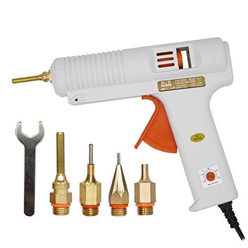 SUNSHIN 150W High Professional Industrie-Schmelzklebepistole Thermostat Schmelzklebepistole mit austauschbarer Langer Kupferdüse für Heimwerker