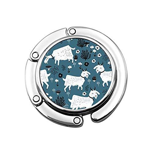 Cabras Bebé Animal de Granja Gancho para Monedero Gancho Plegable para Bolso Ganchos para repisa Perchas pcs