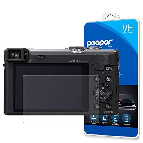 for Panasonic DMC ZS40 ZS40S ZS60 Digital Camera Screen Protector, Geapor Tempered Glass Screen Protector for Panasonic ZS40 TZ60 9H HD-Clear Ant-Scratch Glass Protector