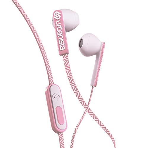 Urbanista San Francisco Kopfhörer [DYNAMISCHE IN-Ear-KOPFHÖRER], Telefonieren per Mikrofon, 3,5mm-Stereoeingang – Pink Paradise
