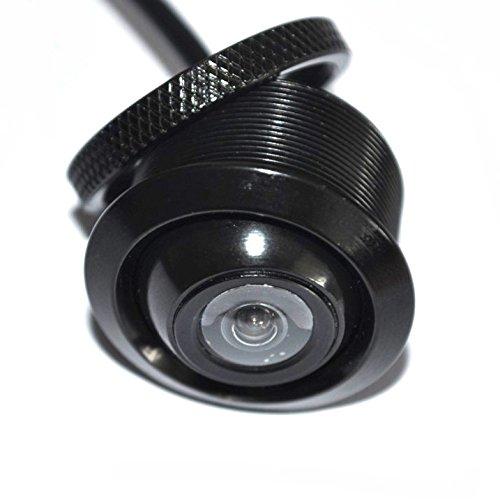 YMPA Rückfahrkamera Farbe Kugelkopf drehbar schwenkbar Kugelkopf Spiegelung vorne hinten Seite distanzlinen Hilfslinien für Auto PKW KFZ Monitor für Rückfahrsystem RFK-KK