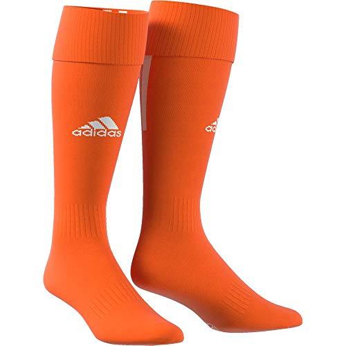 adidas Erwachsene Santos 18 Socken, Orange/White, L (Manufacturer size:EU 40-42)