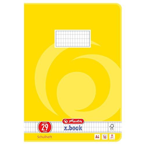 Herlitz 3322906 Schulheft  (A4, rautiert, Lineatur 29) 16 Blatt,  10er Packung