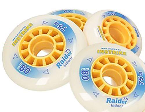 Instrike Raider 75A Rolle 4er Set Indoor Profi Wheel für Inliner Skater Hockey besonder geeignet (68 mm)