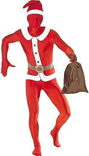 Second Skin Kost Stretchanzug Nikolaus Santa Kost Gr L