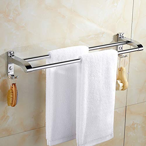 TP&DD Doble,Acero Inoxidable del Sus 304 Moho anticorrosión Toallero Barra,para Cuarto de baño Cocina-A 40cm(16inch)