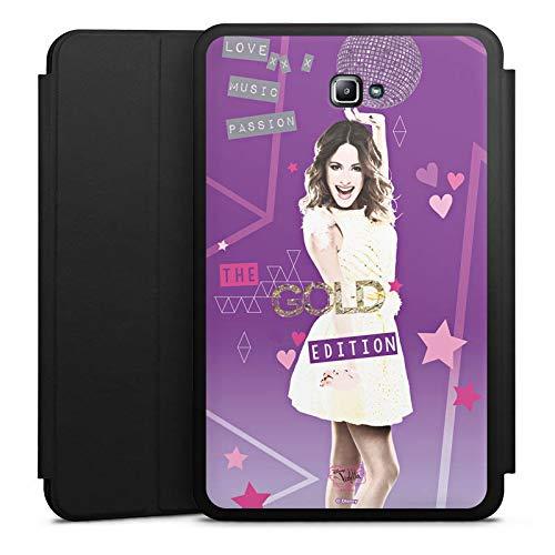 DeinDesign Smart Case schwarz kompatibel mit Samsung Galaxy Tab A 10.1 (2016) Hülle mit Ständer Schutzhülle Disney Purple Violetta