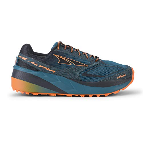 ALTRA Men's Olympus 3.5 Trail Running Shoe, Green/Orange - 10.5 M US