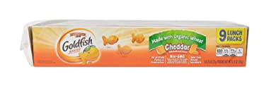 Pepperidge Farm Goldfish, Made with Organic Wheat, Cheddar, 0.75 Ounce, 9 Count