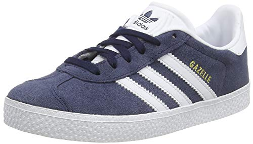 adidas Gazelle J, Baskets Basses Mixte Enfant, Bleu (Collegiate Navy/Footwear White/Footwear White), 38 EU
