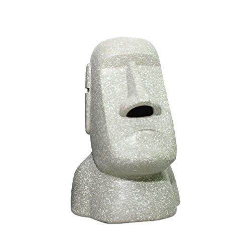 VOSAREA Moai Tissue Box Osterinsel Figur Taschentuchbox Kosmetiktücherbox Moai Statue für Büro Restaurant Ostern Party Dekoration Gastgeschenke (Licht)