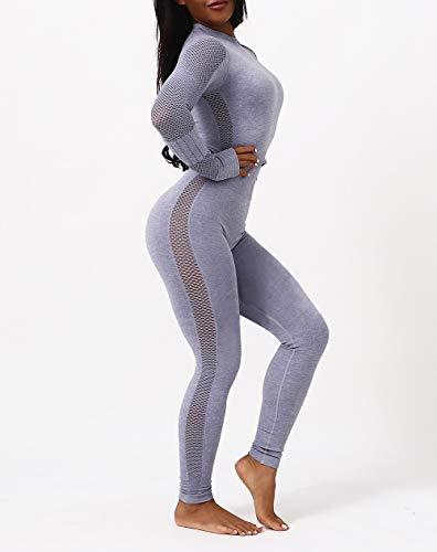 Wo nice Damas Ocio Yoga Fitness Traje De Cintura Alta Cintura Hip-Levantamiento Fitness Pantalones De Fitness Hip-Levantamiento De Deportes Al Aire Libre Leggings Sudadera,A,M