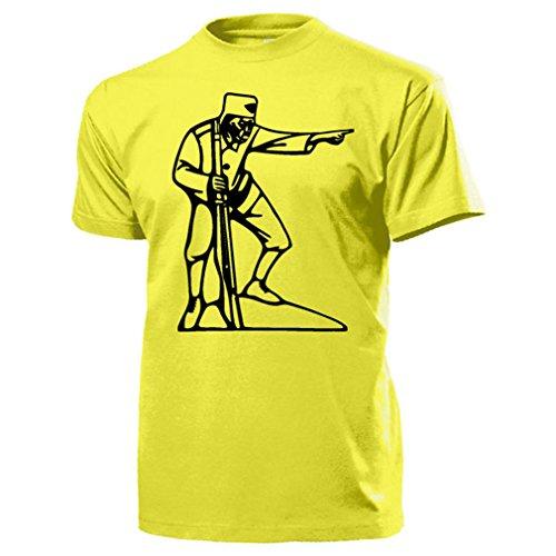 ASKARI lettow Vorbeck Heia Safari Afrika Deutsch Ostafrika T Shirt #17228, Farbe:Gelb, Größe:Herren S