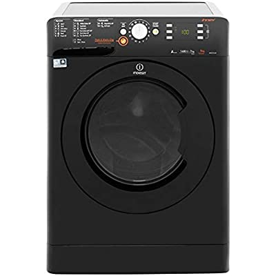 Indesit XWDE751480XK A Rated Freestanding Washer Dryer - Black