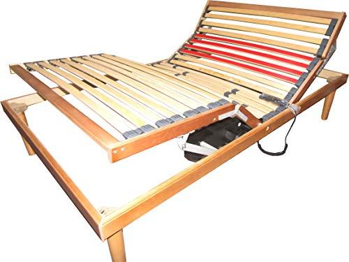 SARDAMATERASSI Elektro-Lattenrost für französisches Bett, Lattenrost, Entspannung 120 x 190 cm, 2 unabhängige Motoren, Kopf und Fuß, Fernbedienung 6 Funktionen, medizinisches Gerät