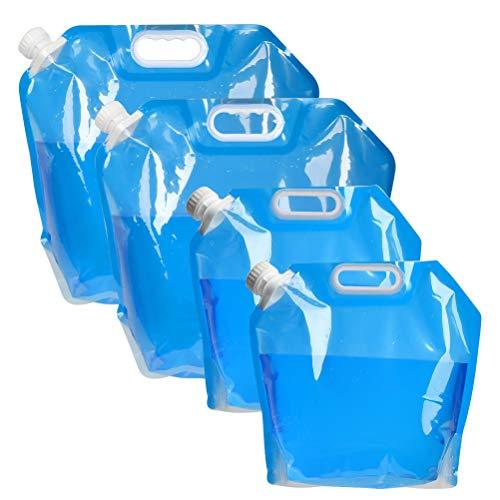 N\A 4 Stück Wasserkanister Tragbar Faltbarer Trinkwasser Behälter 5L/10L Wassertank Wasser Wasserbehälter Waschbecken wassertaschen für Camping Reisen Wandern Angeln Bootfahren Gartenarbeit