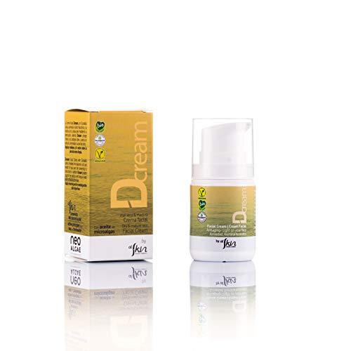 Crema Facial Ecológica | Cosmética Natural Certificada Ecológica | Aumenta el Acido Hialurónico Natural de la Piel | Microalgas de Origen Natural | Envase de 50 ml | Alskin
